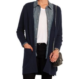 Rag and Bone NWT Cynthia Cashmere Cardigan Navy